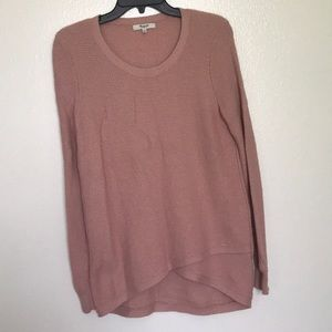 Madewell Dusty Pink knit Sweater